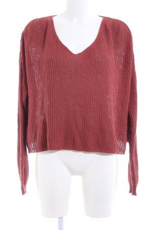 24Colours Pull tricoté rouge style décontracté