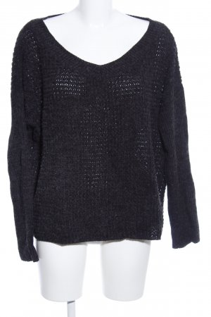 24Colours Strickpullover anthrazit Casual-Look