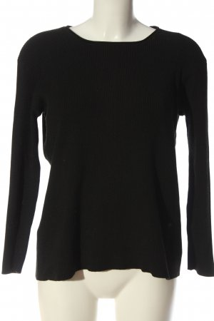 24Colours Knitted Sweater black casual look