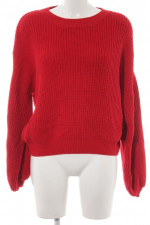 24Colours Strickpullover rot Casual-Look