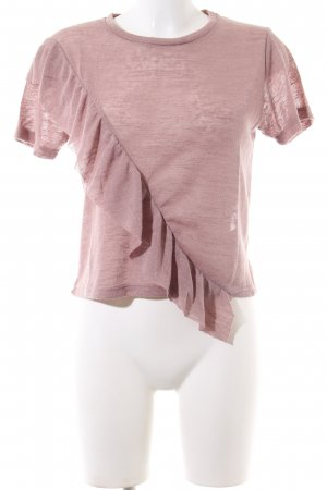 24Colours Camisa tejida rosa moteado look casual