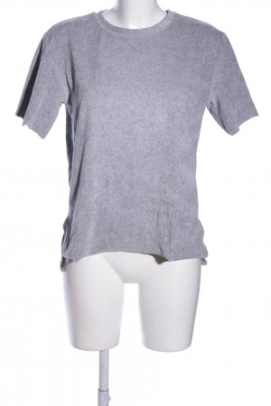 24Colours Camiseta gris claro moteado look casual