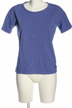 24Colours Camiseta azul-rojo estampado a rayas look casual