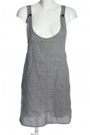 24Colours Pinafore dress light grey allover print casual look
