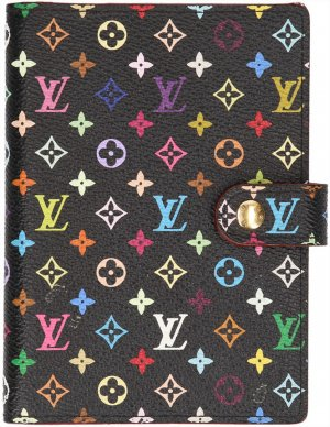 28889 Louis Vuitton Agenda Fonctionnel PM aus Mini Monogram Multicolore Canvas in Noir