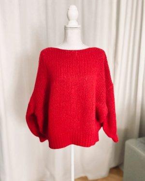 Bloom Maglione oversize rosso mattone Lana d'alpaca
