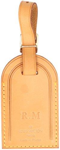 29902 Louis Vuitton Adressanhänger mit eingeprägten Initialen aus VVN Leder in Braun