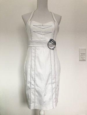 2b Bebe Kleid Partykleid weiß schwarz auffällig sexy enganliegend