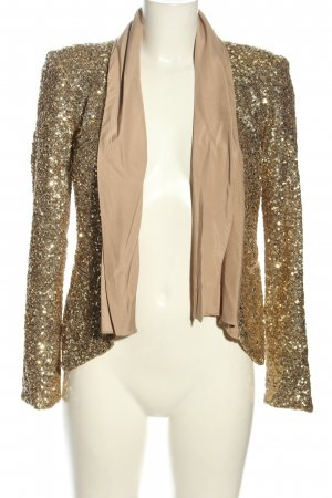 2b bebe Short Blazer gold-colored extravagant style
