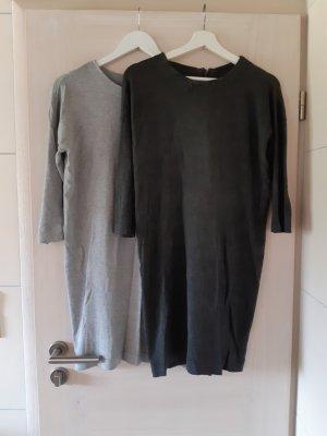 Vero Moda Robe pull gris clair-gris foncé