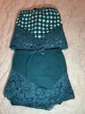 Bon Prix Pantalone pigiama bianco-verde bosco