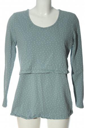 2hearts Slip-over Blouse blue-white allover print casual look