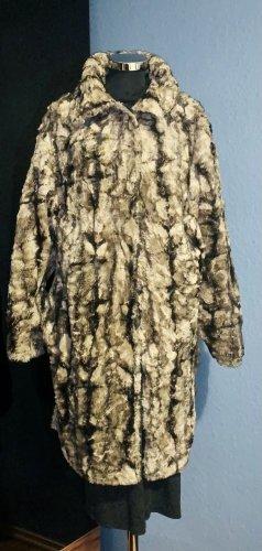 Goldix Manteau en fausse fourrure gris brun-brun foncé