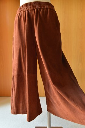 2ND DAY Culotte S/36 Leder Lederhose Braun Etikett Hosenrock weite Hose