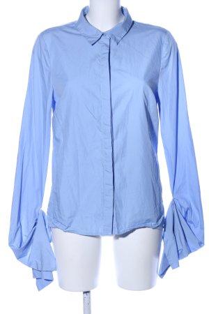 2nd Day Blouse met lange mouwen blauw zakelijke stijl