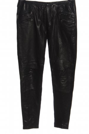 2nd Day Pantalone in pelle nero stile casual