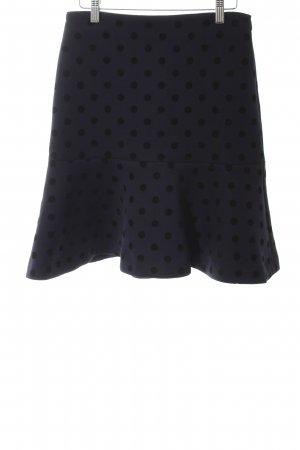 2nd Day Tulip Skirt black-dark blue spot pattern casual look