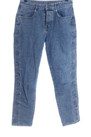 2nd One Jeans a vita alta blu stile casual