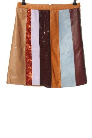 2NDDAY Falda de cuero estampado a rayas look casual