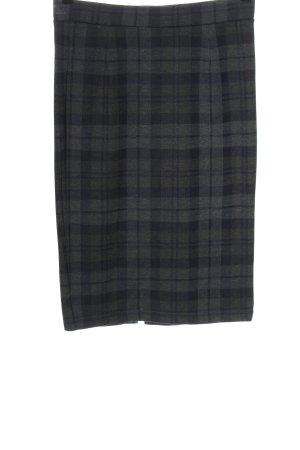 2NDDAY Falda de tubo negro-gris claro estampado a cuadros look casual