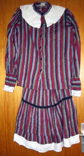 Vintage Flounce Dress multicolored linen
