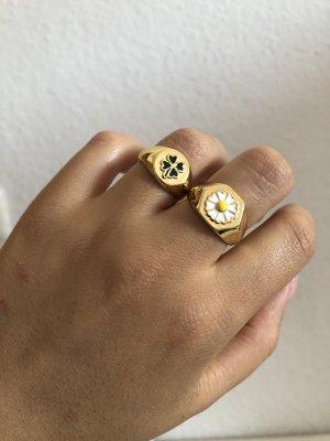 echt Silber 925 Bague en or doré