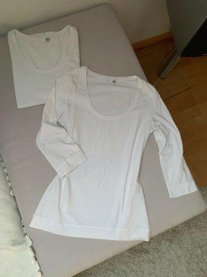 2x Basic H&M Longsleeve weiß, S