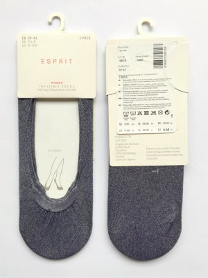 Esprit Legwarmers grey-silver-colored polyamide