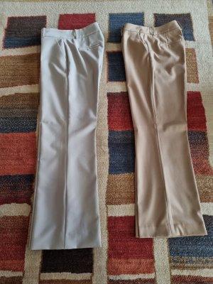 Hallhuber Pantalone palazzo grigio chiaro-color cammello