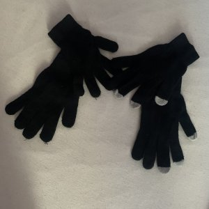 Knitted Gloves black-light grey