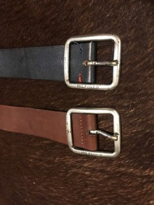 Tommy Hilfiger Leather Belt brown-dark blue leather
