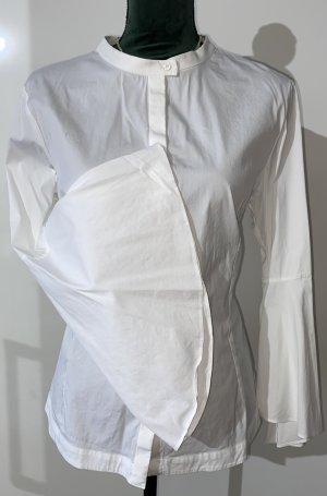 2xm:Shrts Blouse à col montant blanc coton