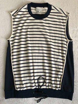 3.1 Phillip Lim Top koszulowy ciemnoniebieski-jasnobeżowy