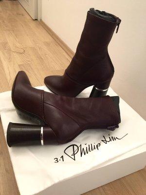 3.1 Phillip Lim Ankle Boots bordeaux-brown red