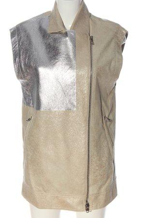 3.1 Phillip Lim Długa dzianinowa kamizelka srebrny-kremowy Melanżowy