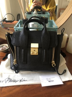 3.1 Phillip Lim Pashli Mini Satchel Black/Gold