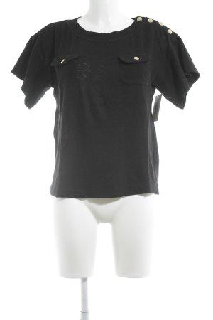 3.1 Phillip Lim Strickshirt schwarz-goldfarben Elegant