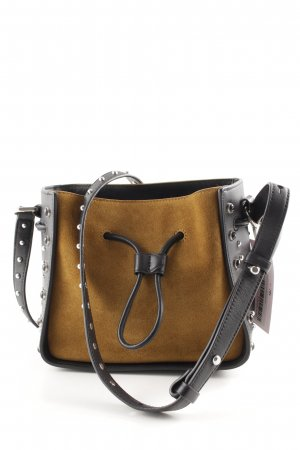 3.1 Phillip Lim Borsa a spalla nero-marrone stile casual