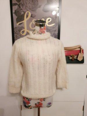 Impressionen Maglione a maniche corte bianco sporco-crema