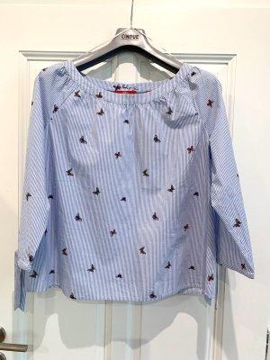 3/4-ärmelige Bluse mit Schmetterlingen