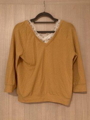 Camaieu V-Neck Sweater white-yellow