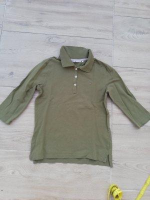 Tommy Hilfiger Camiseta tipo polo gris verdoso-verde oliva