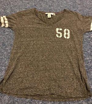 H&M T-shirt imprimé gris anthracite