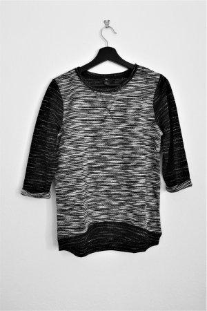 H&M Gebreide top zwart-wit