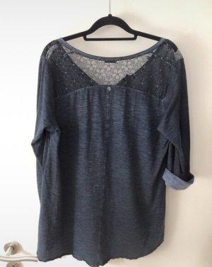 3/4-arm Shirt blau