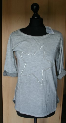 3/4 Arm Shirt Cecil 36 grau mit Pailletten Stern