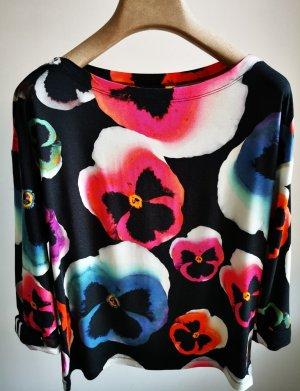 3/4-Arm Shirt mit Blumenmuster