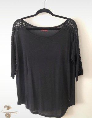 3/4-arm Shirt schwarz