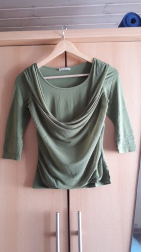 Orsay Cowl-Neck Top olive green