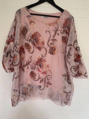 3/4-Bluse mit Blumenmuster von Zabaione